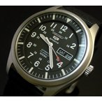 SEIKO SEIKO5Sports セイコー5スポーツ ファイブスポーツ 自動巻 メンズ腕時計 ナイロンベルト ブラック文字盤 SNZG15K1 海外モデル