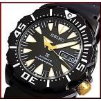 SEIKO/PROSPEX セイコー/プロスペックス200m防水ダイバーズ 自動巻 メンズ腕時計 ブラックメタルベルト ブラック/ゴールド文字盤  海外モデル SRP583K1