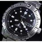 SEIKO / PROSPEX セイコー / プロスペックス 200m防水 ダイバーズ 自動巻 メンズ腕時計 メタルベルト ブラック文字盤 海外モデル SRP585K1
