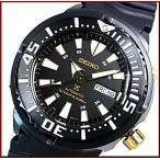 SEIKO / PROSPEX セイコー / プロスペックス 200m防水 ダイバーズ 自動巻 メンズ腕時計 ラバーベルト ブラック文字盤 海外モデル SRP641K1