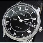 SEIKO Presage メカニカル セイコー プレサージュ自動巻 メンズ腕時計 ブラック文字盤 ブラックレザーベルト Made in Japan 海外モデル SRP765J2