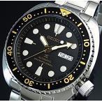 SEIKO PROSPEX セイコー プロスペックス 200m防水 ダイバーズ 自動巻 メンズ腕時計 ブラックベゼル メタルベルト ブラック文字盤 海外モデル SRP775K1