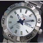 SEIKO SEIKO5Sports セイコー5スポーツ ファイブスポーツ 自動巻 メンズ腕時計 メタルベルト シルバー文字盤 SRPA49K1 海外モデル