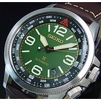 SEIKO PROSPEX セイコー プロスペックス 自動巻 メンズ腕時計 ブラウンレザーベルト モスグリーン/ブラック文字盤 海外モデル SRPA77K1