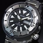SEIKO PROSPEX セイコー プロスペックス ダイバーズウォッチ 自動巻 メンズ腕時計 メタルベルト ブラック文字盤 MADE IN JAPAN 海外モデル SRPA79J1