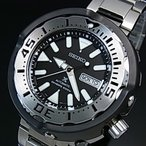 SEIKO PROSPEX セイコー プロスペックス ダイバーズウォッチ 自動巻 メンズ腕時計 メタルベルト ブラック文字盤 海外モデル SRPA79K1