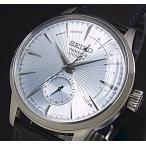 SEIKO Presage セイコー プレサージュ パワーリザーブ付 自動巻 メンズ腕時計 ライトブルー文字盤 ブラックレザーベルト Made in Japan 海外モデル SSA343J1