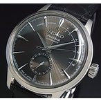 SEIKO Presage セイコー プレサージュ パワーリザーブ付 自動巻 メンズ腕時計 ダークブラウン文字盤 ブラックレザーベルト Made in Japan 海外モデル SSA345J1