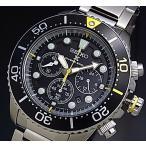 SEIKO PROSPEX プロスペックス セイコー ダイバーズ クロノ メンズ ソーラー腕時計 メタルベルト ブラック/イエロー文字盤 海外モデル SSC613P1