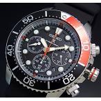 SEIKO PROSPEX diver's watch セイコー プロスペックス ダイバーズ クロノ メンズ ソーラー腕時計 ブラック/レッドベゼル ラバーベルト 海外モデル SSC617P1