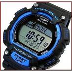 CASIO/SPORTS GEAR【カシオ / スポーツギア】メンズ ソラー腕時計 ラバーベルト ブラック/ブルー(国内正規品)STL-S100H-2AJF
