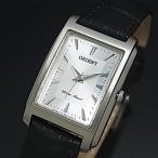 ORIENT オリエント スタンダード クォーツ レディース腕時計 シルバー文字盤 ブラックレザーベルト Made in JAPAN SUBUG005W0