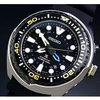 SEIKO / PROSPEX セイコー / プロスペックス キネテック GMT ダイバーズ メンズ腕時計 ブラック文字盤 ブラックラバーベルト SUN021P1 海外モデル
