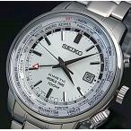 SEIKO / KINETIC セイコー / キネテック GMT メンズ腕時計 シルバー文字盤 メタルベルト SUN067P1 海外モデル