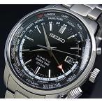 SEIKO / KINETIC セイコー / キネテック GMT メンズ腕時計 ブラック文字盤 メタルベルト SUN069P1 海外モデル