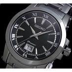 SEIKO / Premier セイコー / プルミエ メンズ腕時計 メタルベルト ブラック文字盤 海外モデル SUR015P1