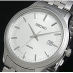 SEIKO / Quartz セイコー / クォーツ メンズ腕時計 メタルベルト シルバー文字盤 SUR141P1 海外モデル
