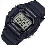 CASIO Standard カシオ スタンダード アラームクロノ メンズ腕時計 デジタルモデル ブラックケース ラバーベルト 海外モデル W-218H-1A