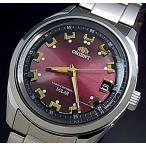 ORIENT オリエント ソーラー電波腕時計 メンズ ワインレッド文字盤 メタルベルト【送料無料】MADE IN JAPAN 国内正規品 WV0081SE