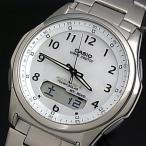 CASIO / Wave Ceptor カシオ / ウェーブセプター メンズ腕時計 ソーラー電波腕時計  チタンモデル ホワイト文字盤 メタルベルト 国内正規品 WVA-M630TDE-7AJF
