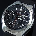 CASIO Wave Ceptor カシオ ウェーブセプターメンズ ソーラー電波腕時計 クロノグラフ ブラック文字盤 ラバーベルト(国内正規品)WVQ-M410-1AJF