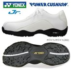 ヨネックス パワークッション ジュニア用 スパイクレス ゴルフシューズ SHG-011J (23.0cm/ホワイト) [YONEX JUNIOR SPIKELESS GOLF SHOES]