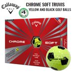 キャロウェイ クロムソフト トゥルービス 4ピース ゴルフボール (イエロー/ブラック) 1ダース(12球入)