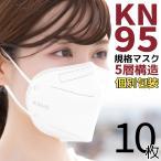 KN95マスク 10枚 マスク KN95 米国N95マスク同等 5層構造 使い捨てマスク 不織布マスク 使い捨て 白 大きめ 立体マスク 女性用 男性用 大人用