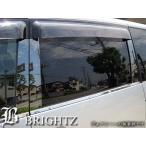 BRIGHTZ プリウス α アルファ VW40 ZVW41 超鏡面ステンレスブラックメッキピラーパネルカバー 10PC バイザー無し用 SON-4-KY