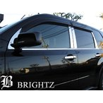 BRIGHTZ エクストレイル T31 超鏡面ステンレスメッキピラーパネル バイザー無用 10PC