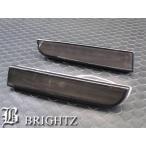 BRIGHTZ ランサーエヴォリューション ランエボ ランエヴォ エボX CZ CZ4A スモークLEDリアバンパーリフレクターランプライト 黒