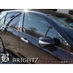 BRIGHTZ ハイラックスサーフ 180 185 超鏡面ステンレスブラックメッキウィンドウモール 6PC