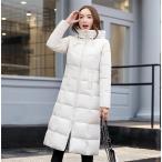 ダウンジャケット 中綿 ダウンコート 冬物 冬服 ロング丈 コート レディース 暖かい フード付き きれいめ ロングコート 軽量 大きいサイズ