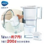 【自宅で美味しいお水を!】公式 浄水器のブリタ ポット型浄水器 リクエリ マクストラプラスカートリッジ1個付 浄水部容量1.1L (全容量2.2L)