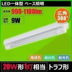 ショッピングLED LED蛍光灯 20W 直管 器具 1灯 一体型 ベースライト トラフ 両側給電 電球色 昼白色 昼光色 FRTR20-LT20K-III ビームテック