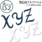 アルファベットの刺繍アイロンワッペン(ia002) 大サイズ・O〜Z アイロン ワッペン アップリケ アルファベット イニシャル 筆記体 白 紺 ホワイト ネイビー