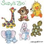 Suzy's ZOOミニワッペンキャラクターワッペン キャラクター 女の子 お祝い 入園 入学 マーク 幼稚園 保育園 スージー・ズー シール・アイロン両用タイプ