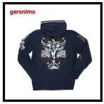 geronimo/ジェロニモ パーカー 51A1300 総刺繍「BORNHEAD」フルジップパーカー/ネイティブ・アメカジ インディゴ