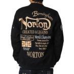 Norton ノートン ma-1 フライトジャケット 71N1601 綿ストレッチ 薄手MA-1・ミリタリージャケット ブラック