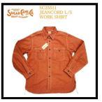シュガーケーン SUGAR CANE ワークシャツ SC25511 JEANCORD/ジーンコード・ストライプ長袖ワークシャツ レッド