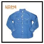 シュガーケーン SUGAR CANE アメカジ長袖シャツ SC25513 シャンブレー長袖ワークシャツ ブルー