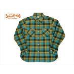 シュガーケーン SUGAR CANE 長袖シャツ SC27383 ツイルチェック・長袖ワークシャツ ブルー