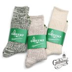 高袜 - GO HEMP(ゴーヘンプ )ORGANIC COTTON×HEMP PILE CREW SOCKS