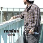 remilla(レミーラ)ヒトエラウンドシャツ