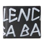 バレンシアガ 2つ折り財布 スクエア ウォレット 510476 0E7GN 1060 ブラック 黒/ホワイト 白