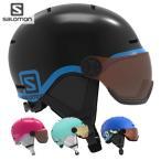 20-21 子供用 SALOMON ヘルメット GROM VISOR : 正規品/サロモン/スキー/スノーボード/ジュニア/キッズ/snow