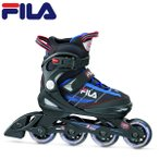FILA 子供用 インラインスケート J-ONE ABEC5 COMBO 2SET: BK/BLUE/RED 正規品/ジュニア/キッズ/ローラーブレイド/outdoor
