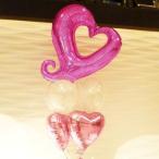 バルーン電報 結婚式 送料無料 ピンクハートブーケ 人気のバルーンギフト