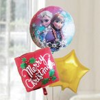 バルーン電報 クリスマス 送料無料 アナと雪の女王クリスマスバルーンセット レッド