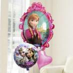 バルーン電報 誕生日 送料無料 アナと雪の女王&ピンクハート&バースデーバルーン プレゼント付き